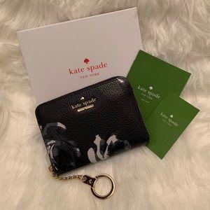 Handbags - NWT KS Briar Lane Dani Night Rose Key Chain Wallet